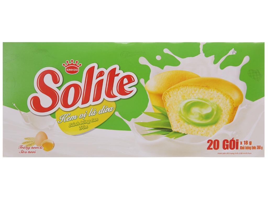 Bánh Bông Lan Tròn Solite Vị Dứa 20 Gói/Hộp