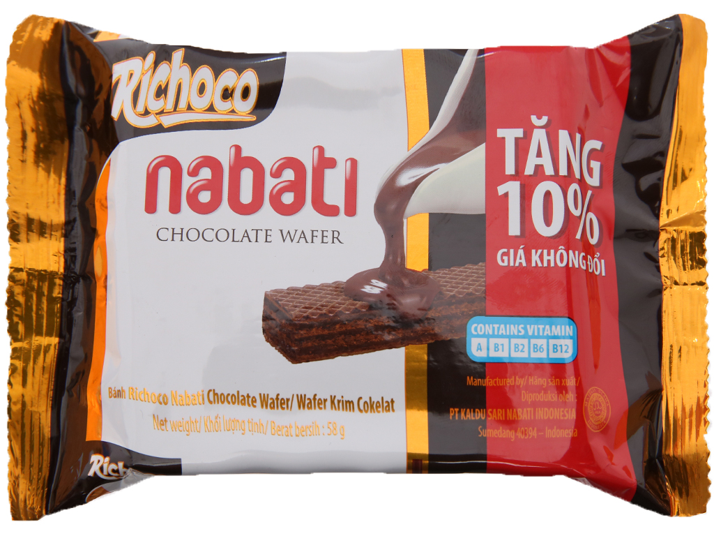 Bánh Xốp Nabati Vị Socola Gói 52gr