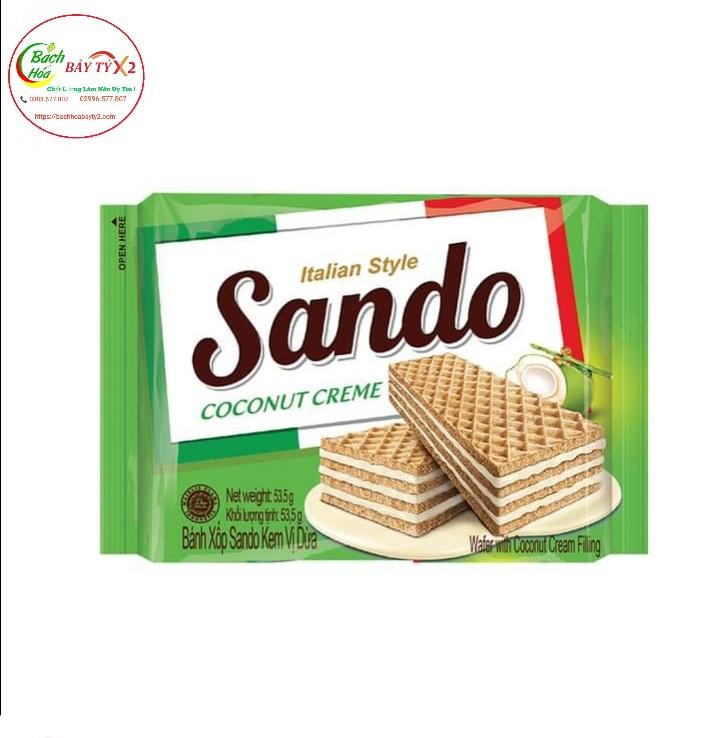 Bánh Xốp Sando Kem Vị Dừa Gói 53.5gr