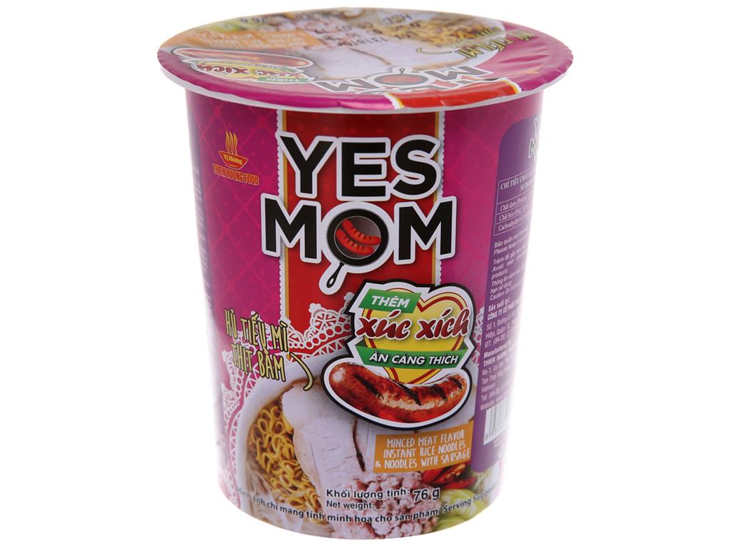 Hủ Tiếu Mì Yes Mom Vị Thịt Bằm Có Xúc Xích 76gr
