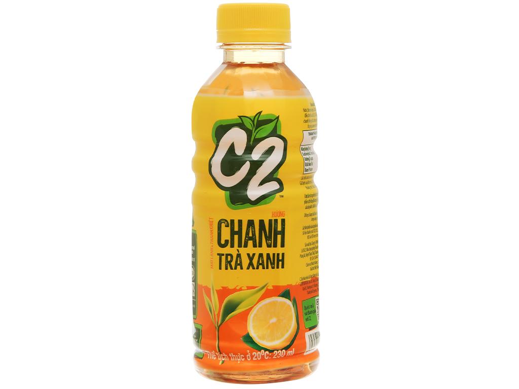 Nước Uống C2 Hương Chanh Trà Xanh Chai 230ml