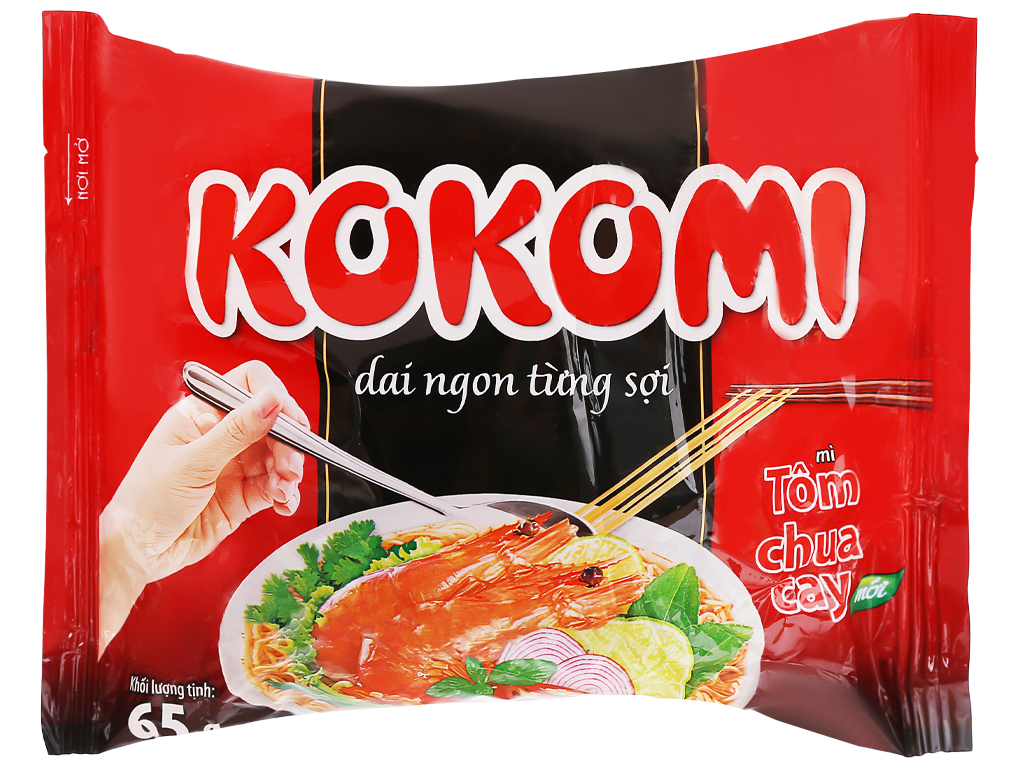 Mì Kokomi Tôm Chua Cay Gói 65gr
