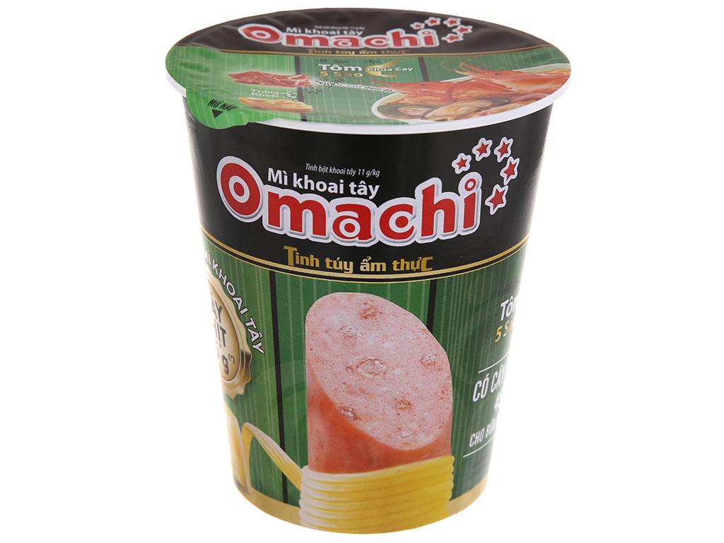 Mì Ly Khoai Tây Omachi Tôm Chua Cay Có Cây Thịt 45gr