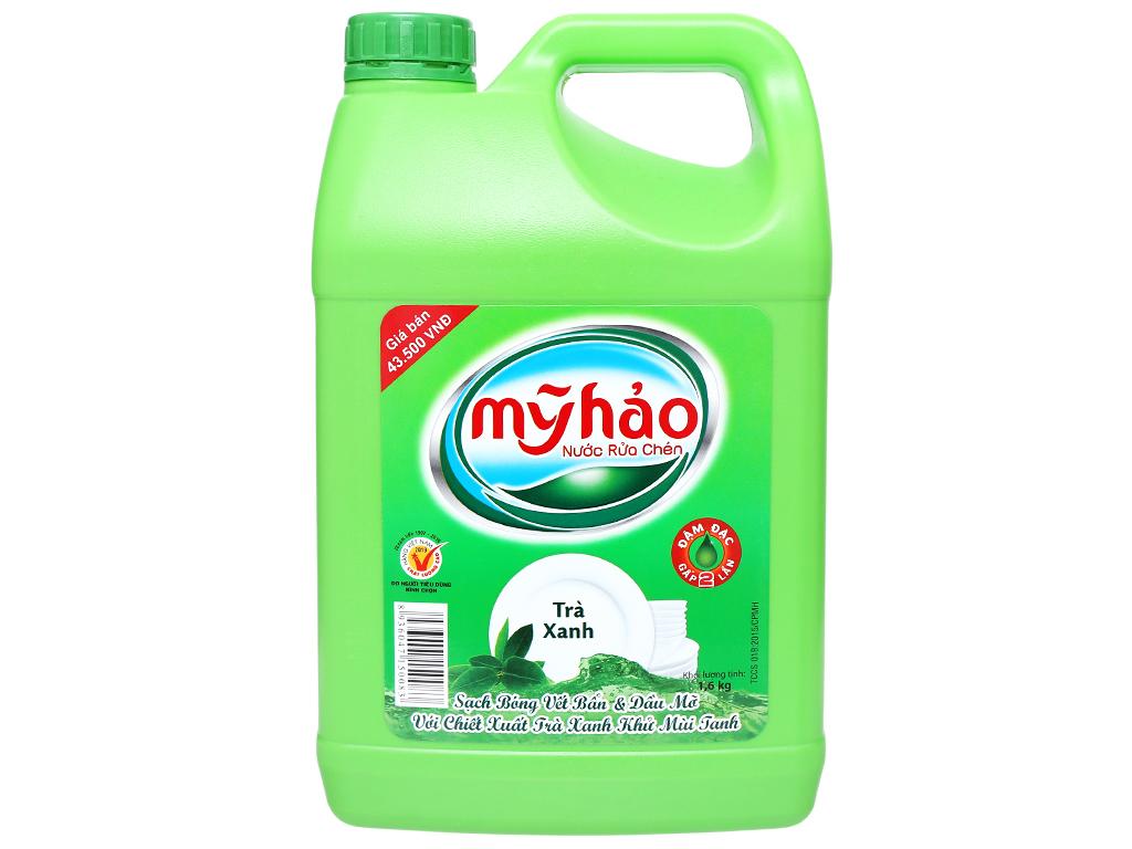 Nước Rửa Chén Mỹ Hảo Hương Trà Xanh Can 1.6kg