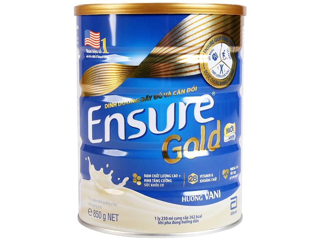Sữa Bột Ensure Gold Vani Lon 850gr