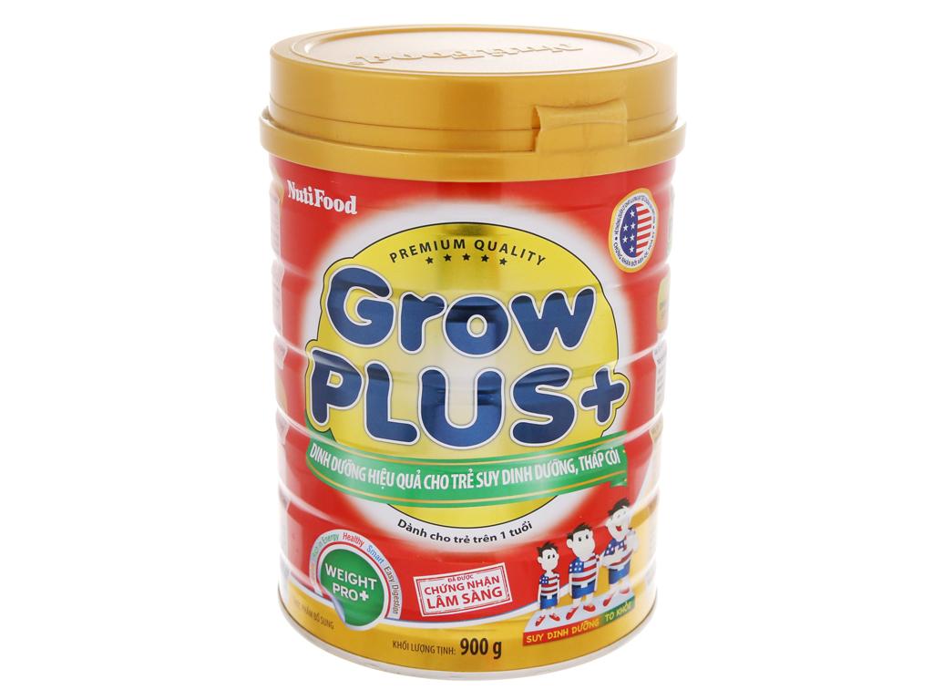 Sữa Bột Grow Plus+ Đỏ Lon 900gr