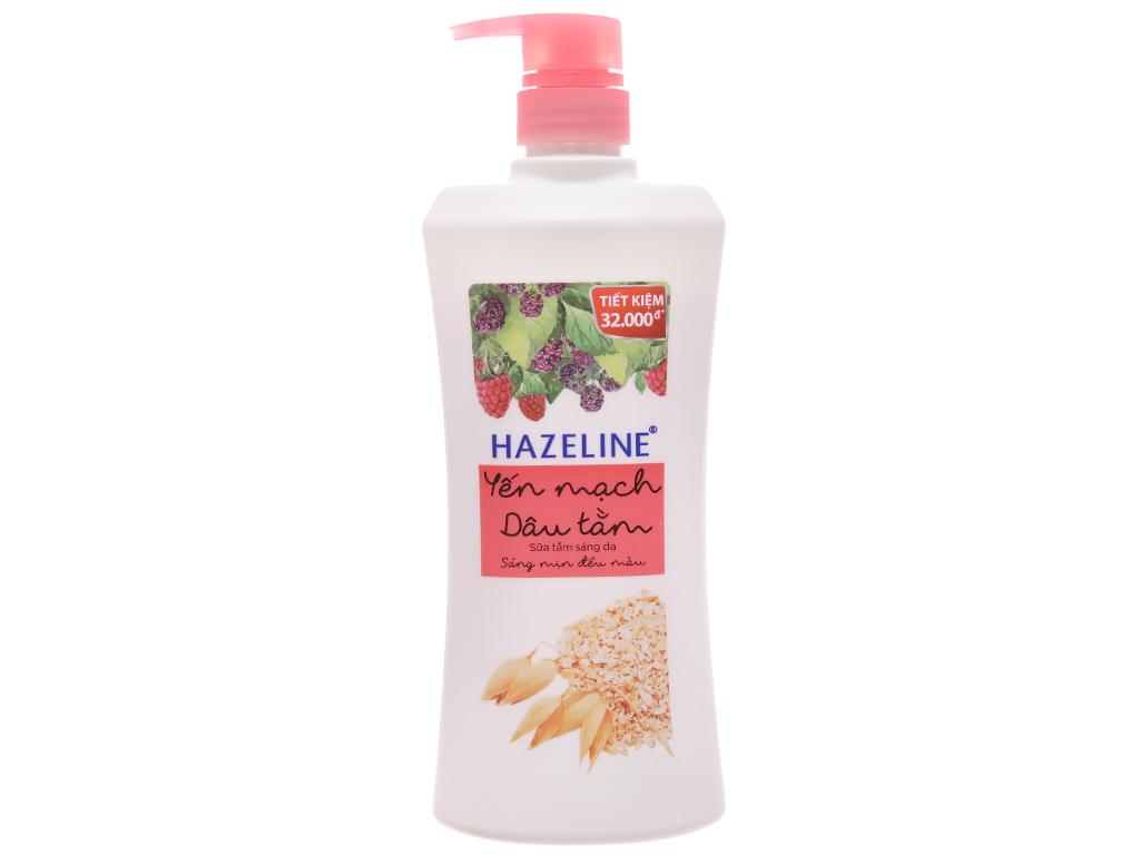 Sữa Tắm Hazeline Yến Mạch và Dâu Tằm Chai 670gr