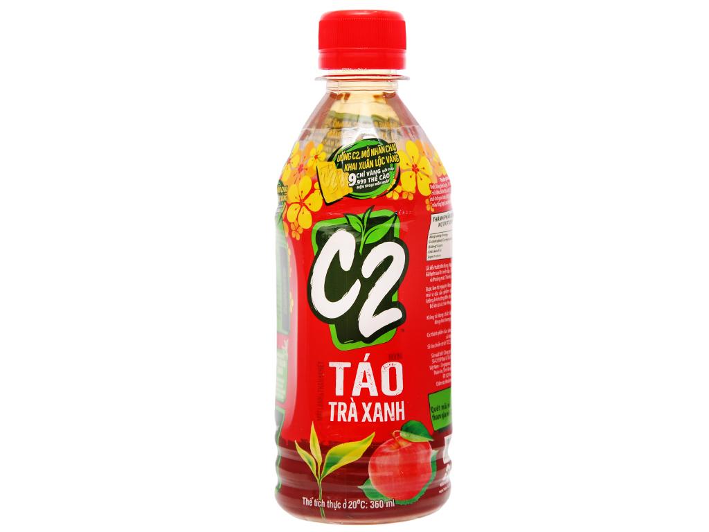 Nước Uống C2 Táo Trà Xanh Chai 360ml