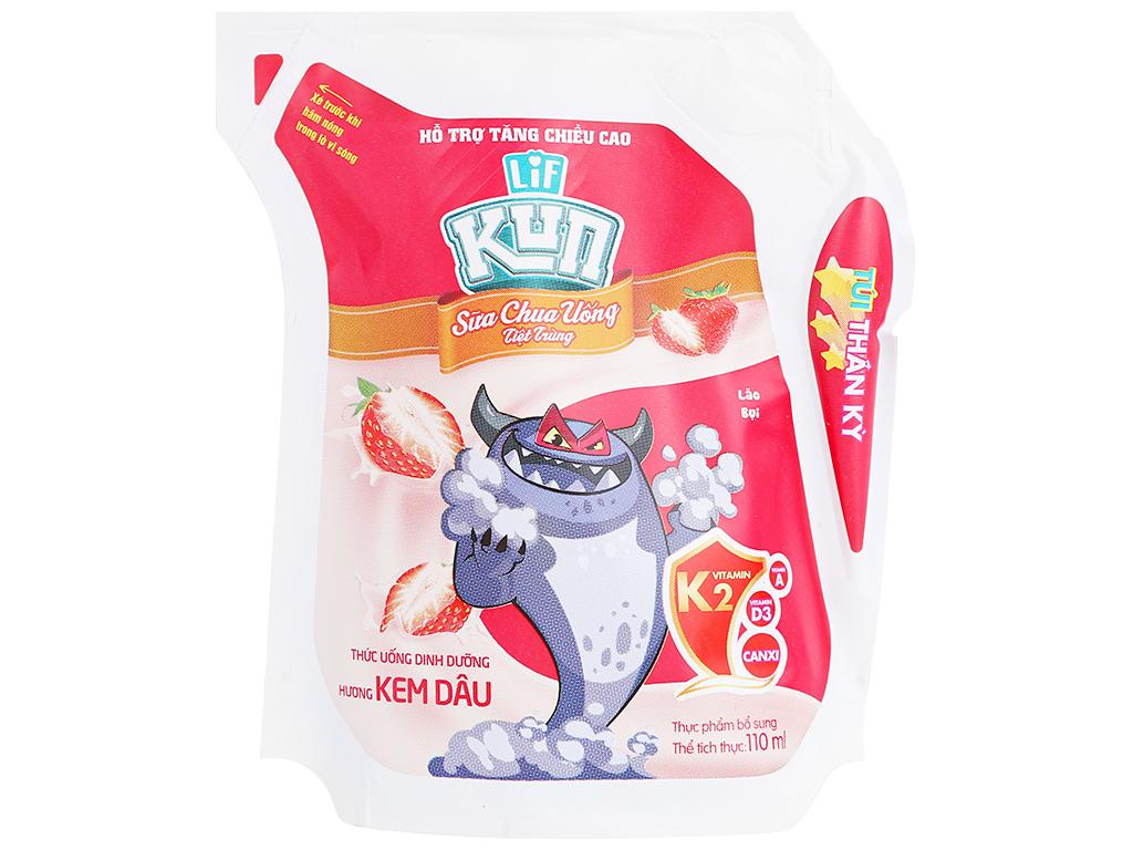 Sữa Kun Hương Dâu Túi 110ml