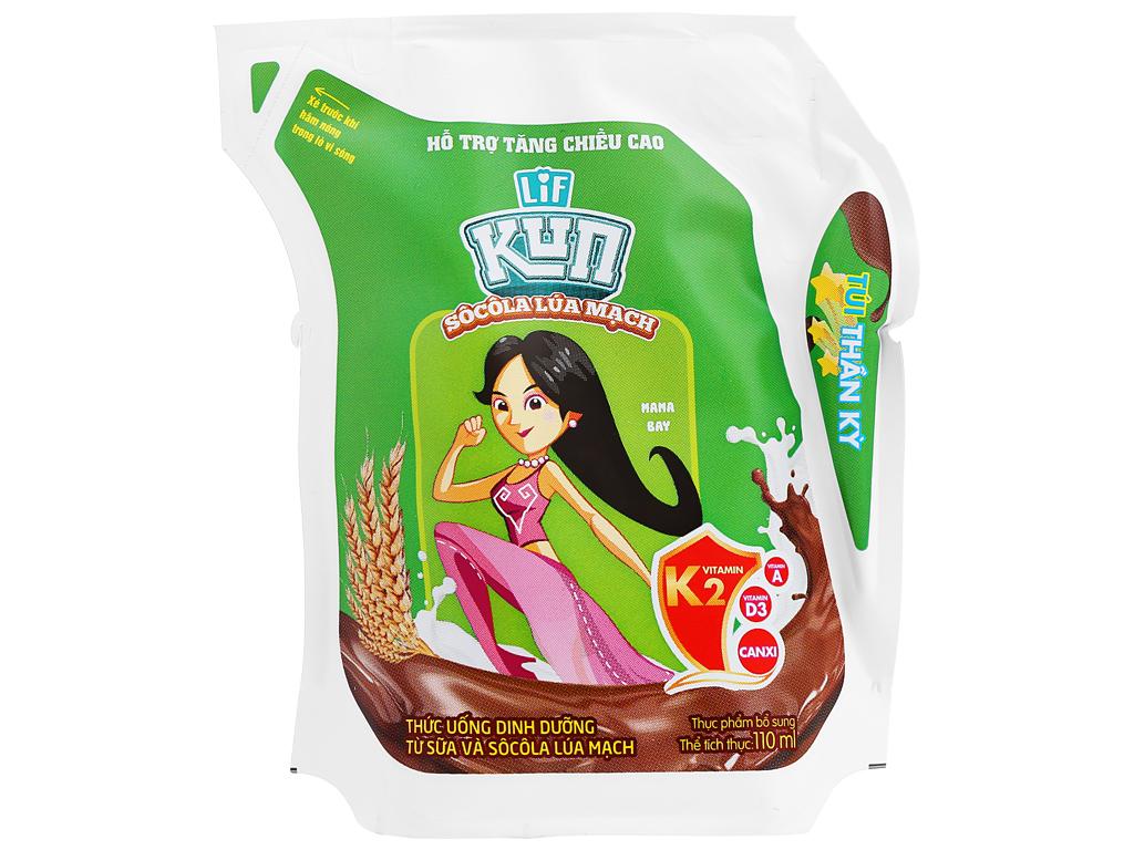 Sữa Kun Hương Socola Lúa Mạch Túi 110ml