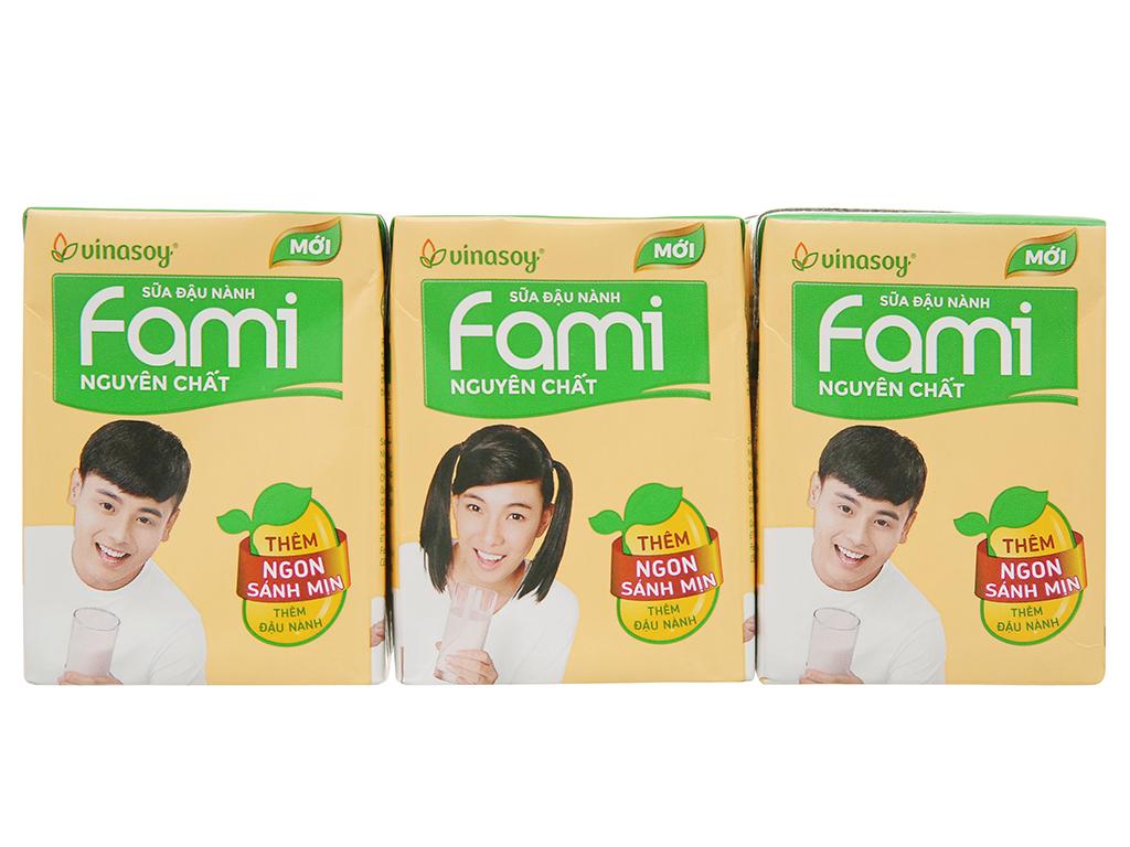 Lốc 6 Hộp x 200ml Sữa Đậu Nành Fami Nguyên Chất