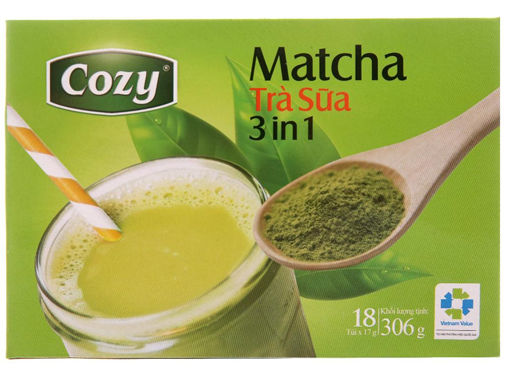 Matcha Trà Sữa 3 In 1 Cozy Hộp 306gr