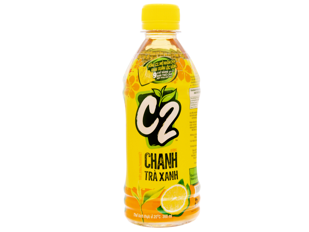 Nước Uống C2 Chanh Trà Xanh Chai 360ml