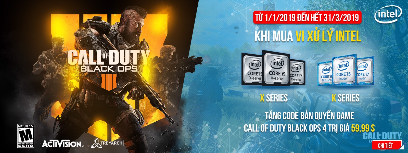 Tặng Code game Call Of Duty: Black Ops 4 khi mua Laptop MSI