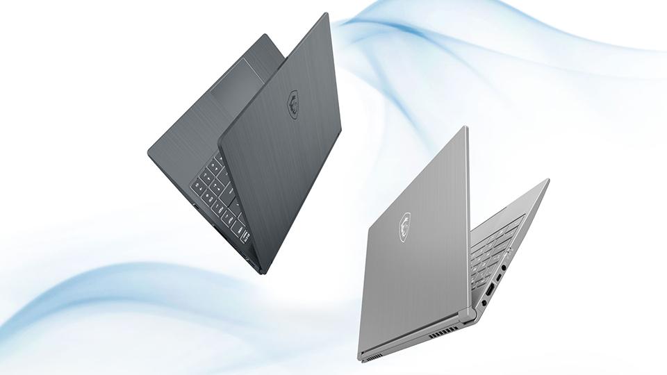 Laptop MSI Modern 14 có thiết kế thanh lịch, mỏng nhẹ, nhỏ gọn