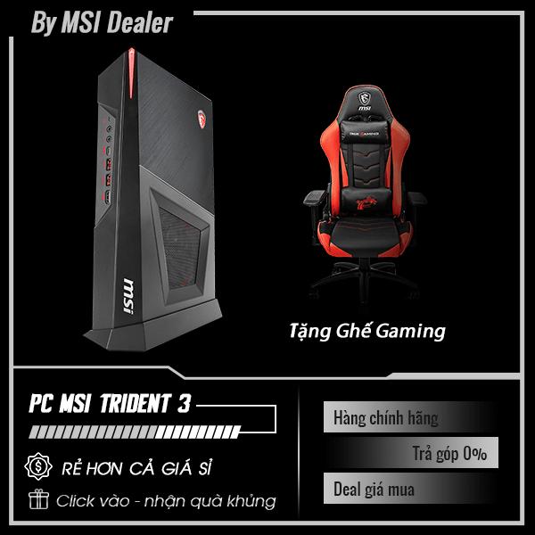 PC Gaming MSI Trident 3 9SI - 412XVN | i5-9400F | RAM 8GB | SSD 128GB + HDD 1TB | VGA GTX 1660Ti | FreeDOS