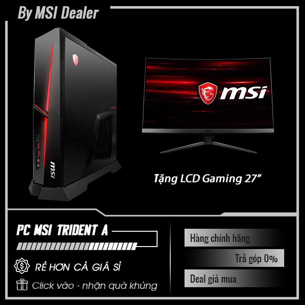 PC Gaming MSI Trident A 9SD - 257XVN | i7-9700K | RAM 16GB | SSD 256GB + HDD 1TB | VGA RTX 2070.