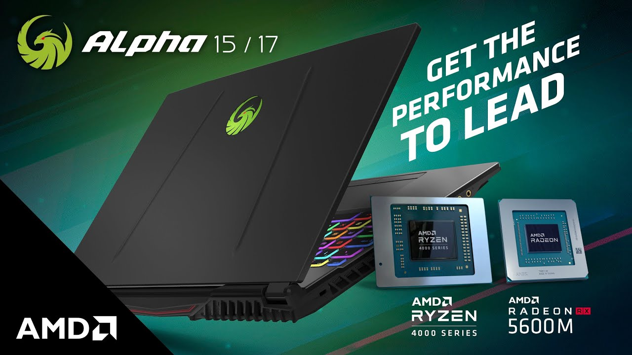 LAPTOP MSI Alpha 15 A4DEK - 027VN (Black) | Ryzen R7-4800H | 8GB DDR4 | SSD 512GB PCIe | VGA RX5600M 6GB | 15.6 FHD IPS 144Hz | Win10.