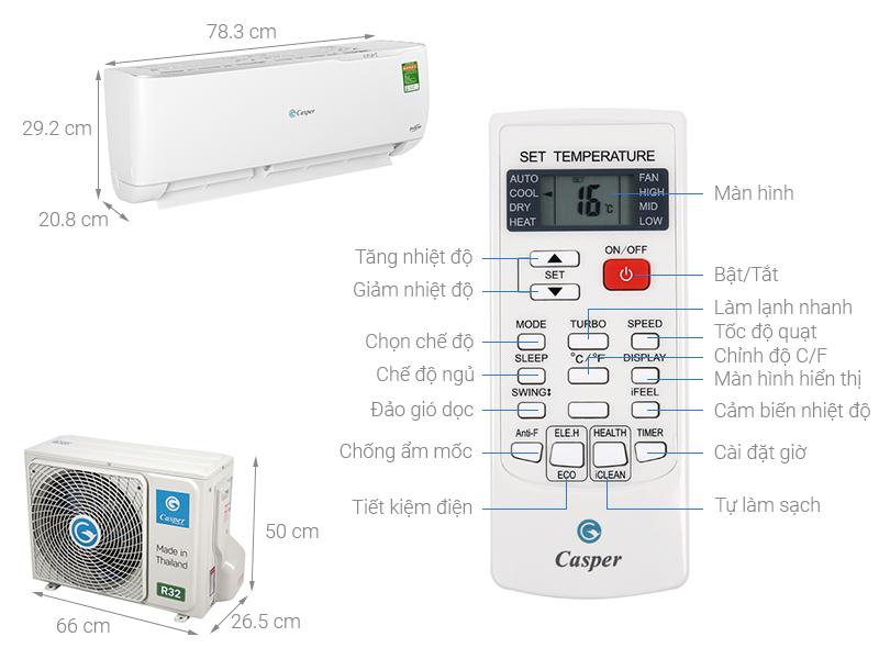 Điều hòa Casper GC-09TL32 Inverter 9000BTU
