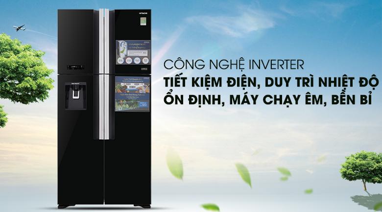 Tủ lạnh Hitachi 4 cánh R-FW690PGV7(GBK) 540L đen