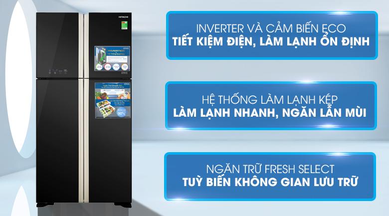 Tủ lạnh Hitachi Inverter R-FW650PGV8(GBK) 509 lít