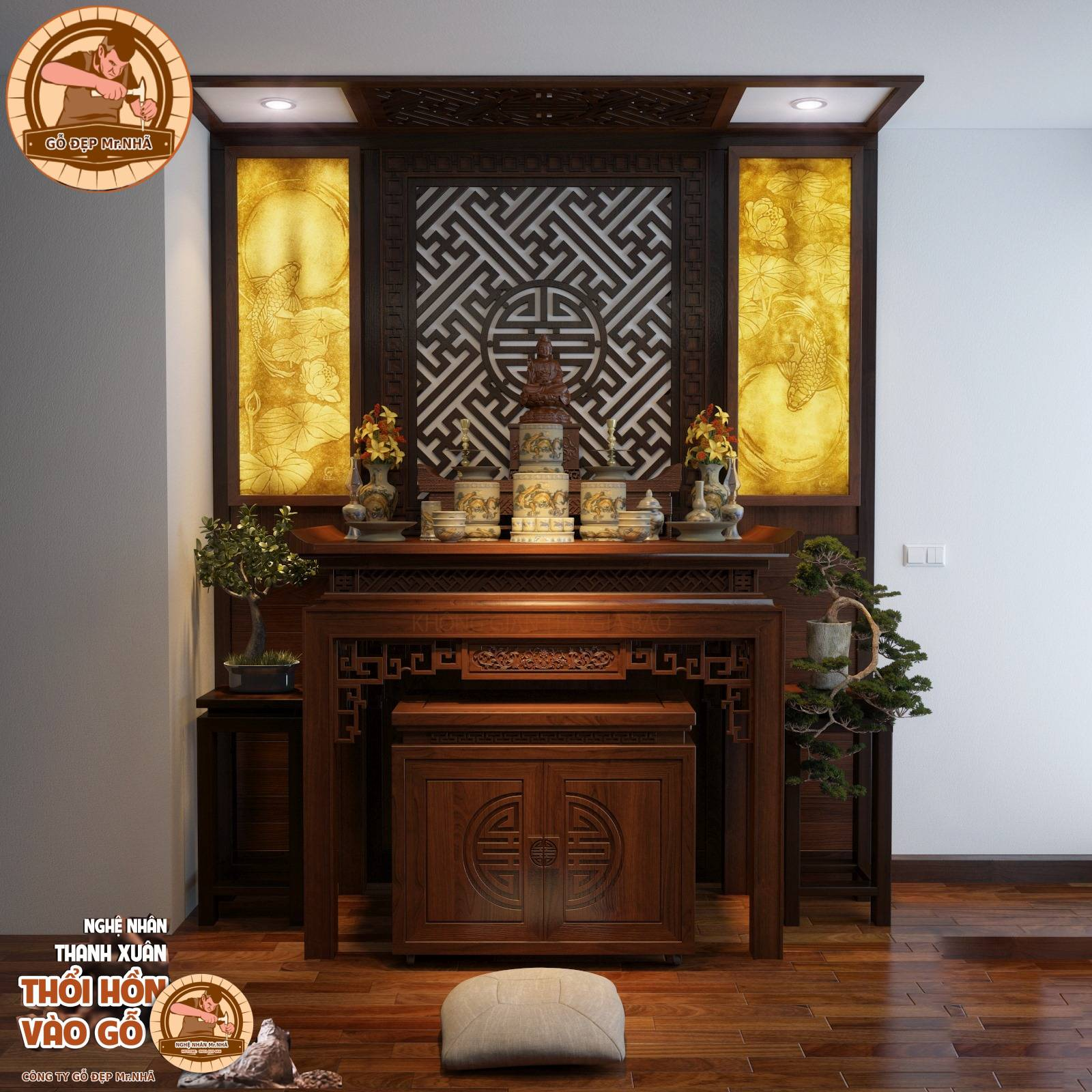 Mẫu bàn thờ BT 19 Đại Phát