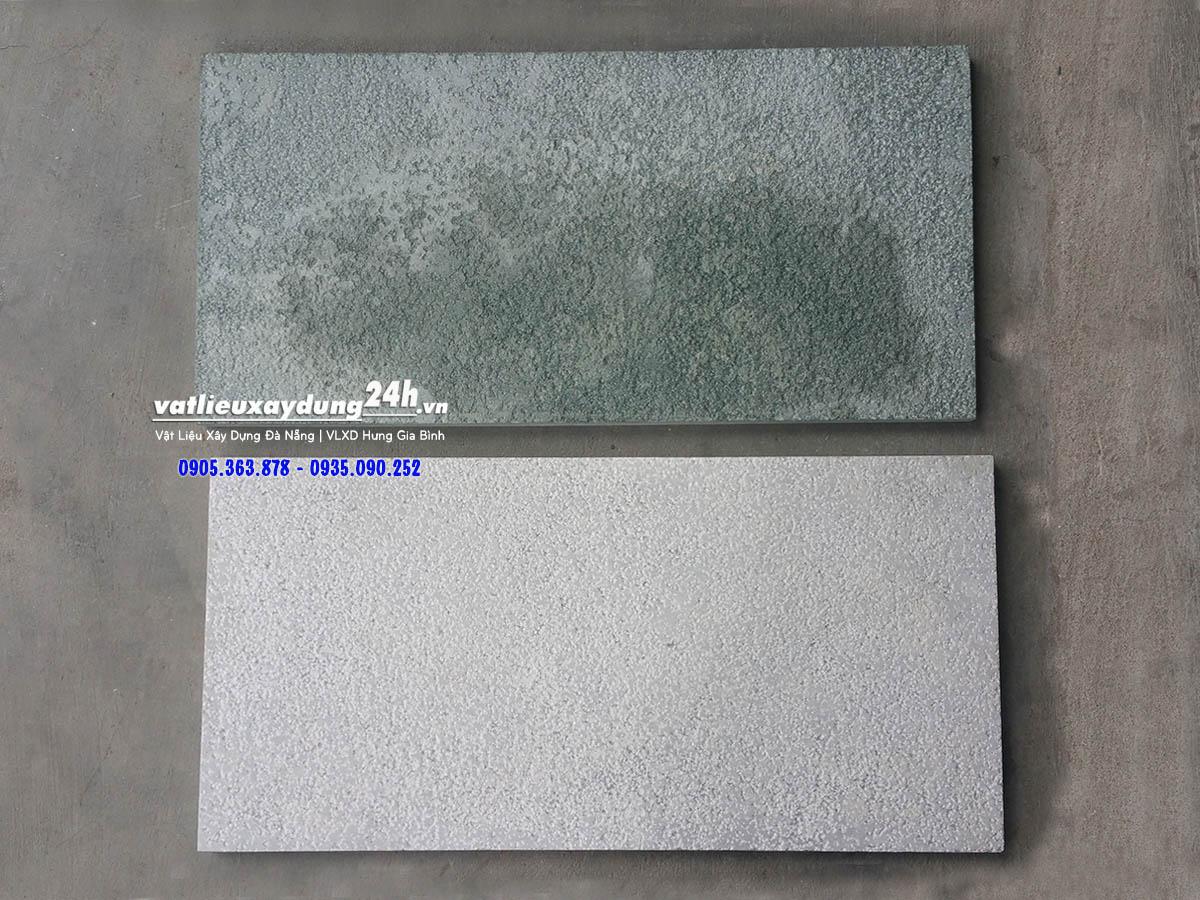 Đá băm xanh rêu 30x60 cm và Đá băm xám trắng 30x60 cm