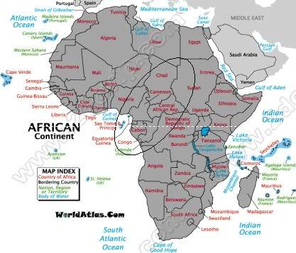 Central African States - khu vực Trung Phi