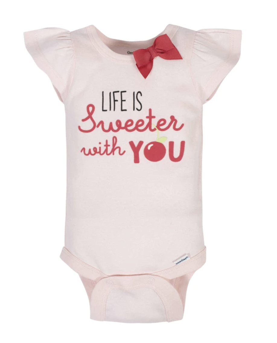 Set 4 Bodysuits Cherry