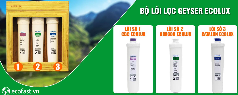 Thay lõi lọc nước Aragon Ecolux - Máy lọc Geyser ECOLUX A