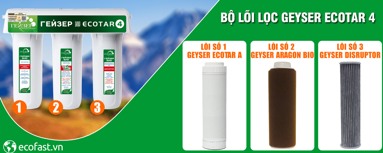 Bộ lõi lọc nước Geyser Ecotar 4
