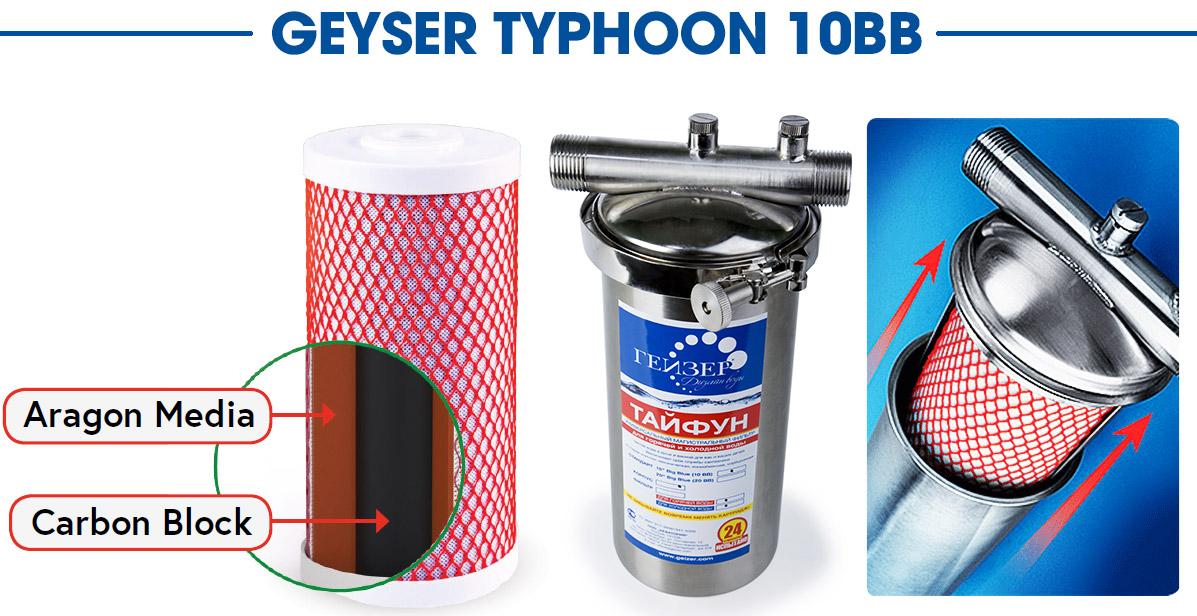 Hệ lọc tổng Geyser Typhoon 10BB made in Russia