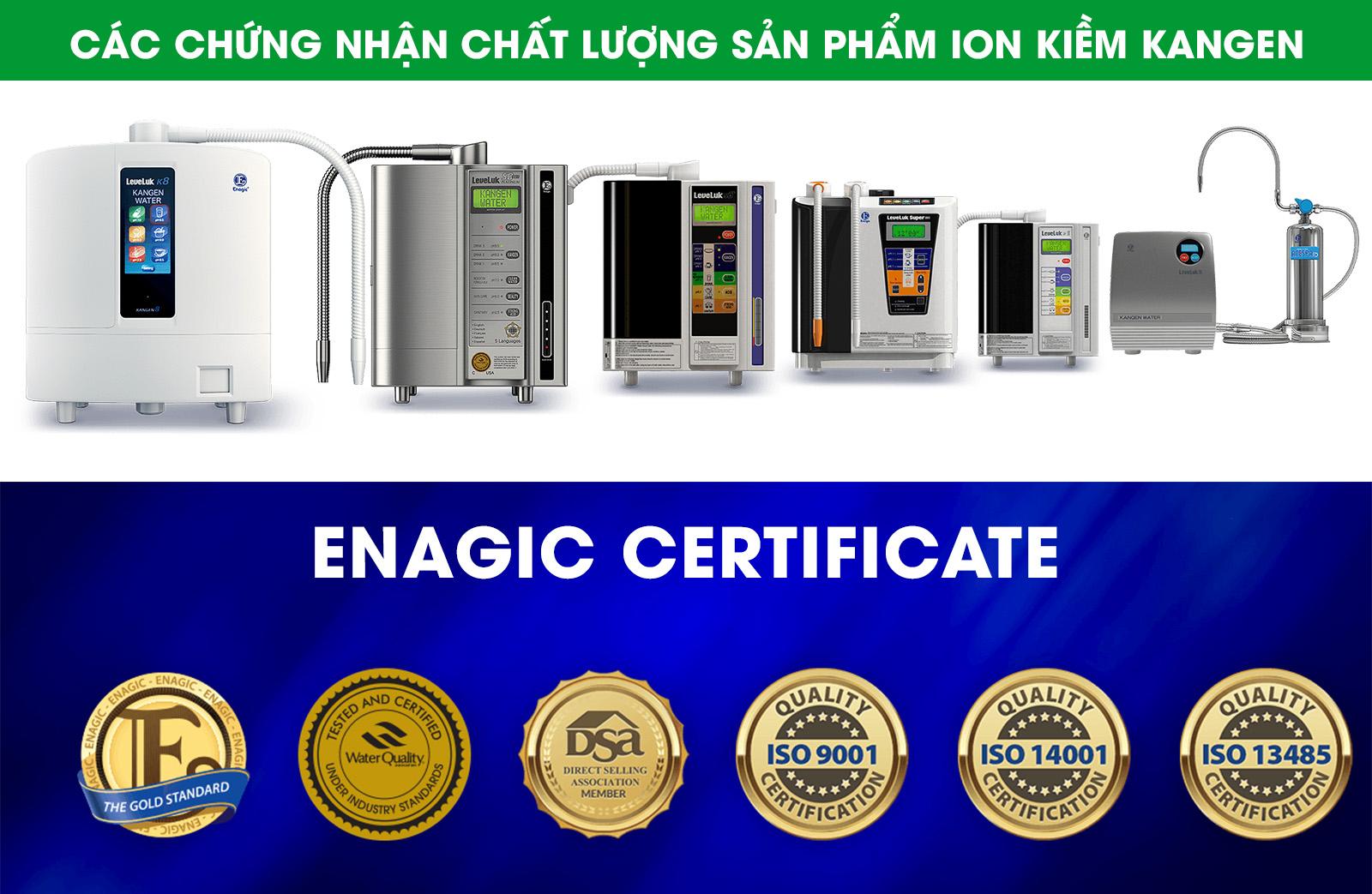 Chứng nhận máy điện giải Kangen