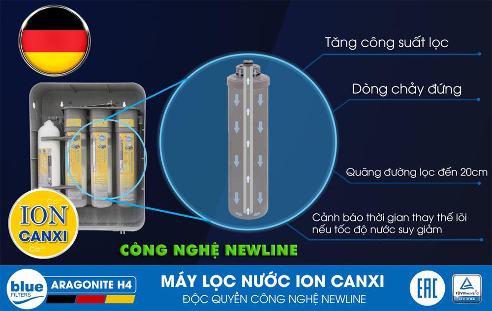 Thay bộ lõi lọc máy lọc nước ion Canxi Bluefilters H4