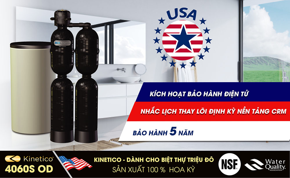 Hệ lọc trung tâm biệt thự Kinetico 4060S OD made in USA