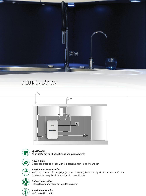 Điều kiện lắp đặt máy lọc nước RO Side Stream AO Smith G2
