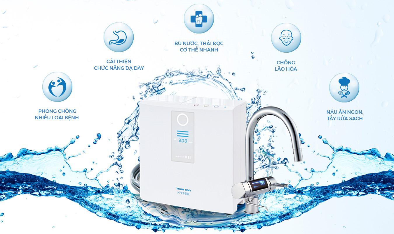 Máy điện giải nước ion kiềm Trimion Hyper Ecofast