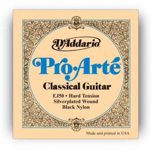 D'Addario EJ50 Pro-Arte Black Nylon Classic Guitar Strings Hard Tension