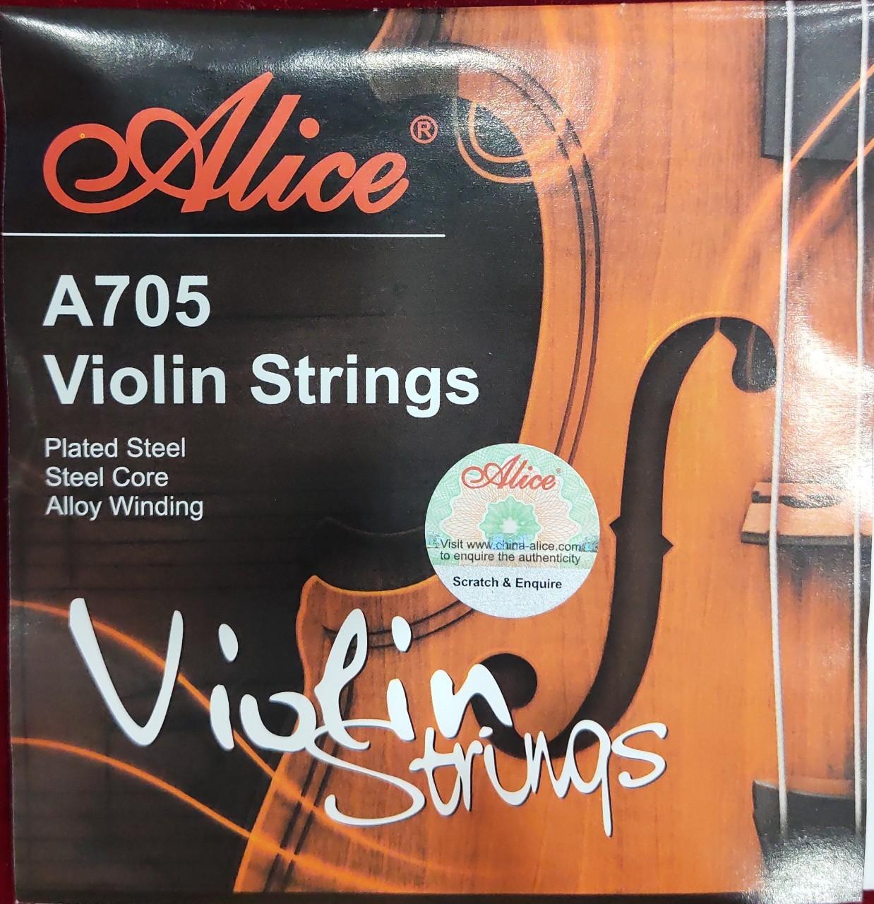 Dây Violin Alice A705 Plated Steel, Steel Core, Alloy Winding