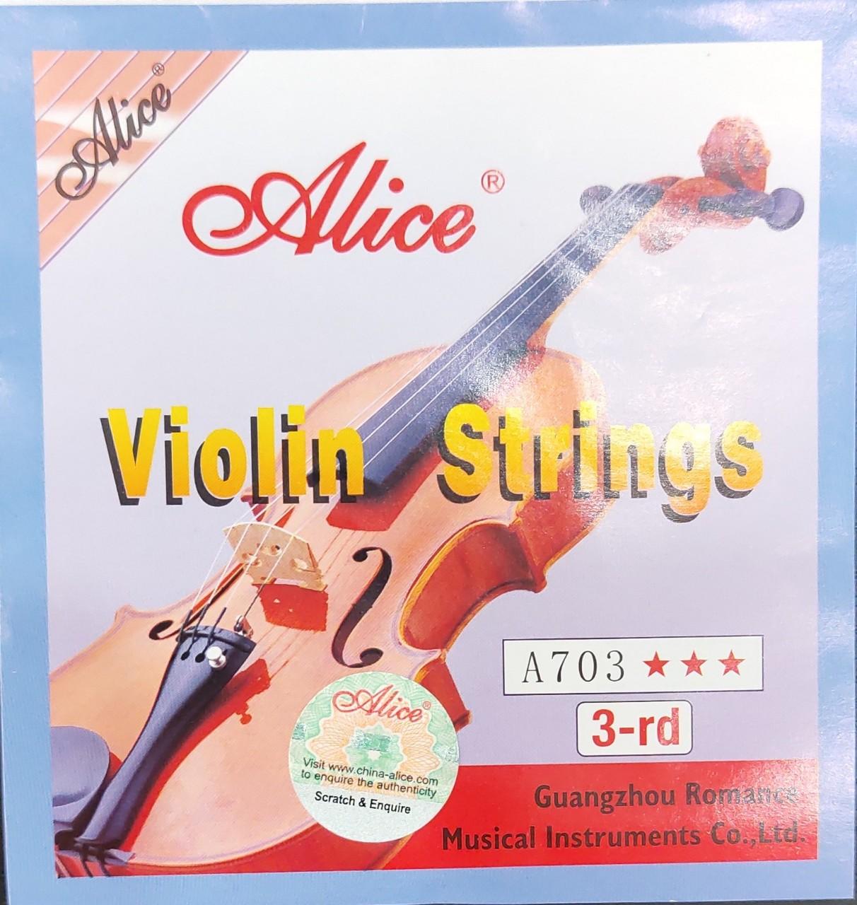 Dây violin lẻ số 3-rd Alice A703