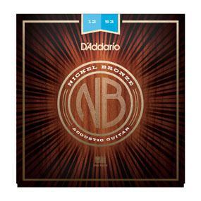 D'Addario NB1253 Nickel Bronze Acoustic Guitar Strings, Light, 12-53