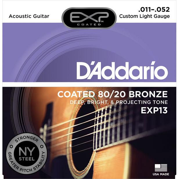 EXP13 Coated 80/20 Bronze, Custom Light, 11-52