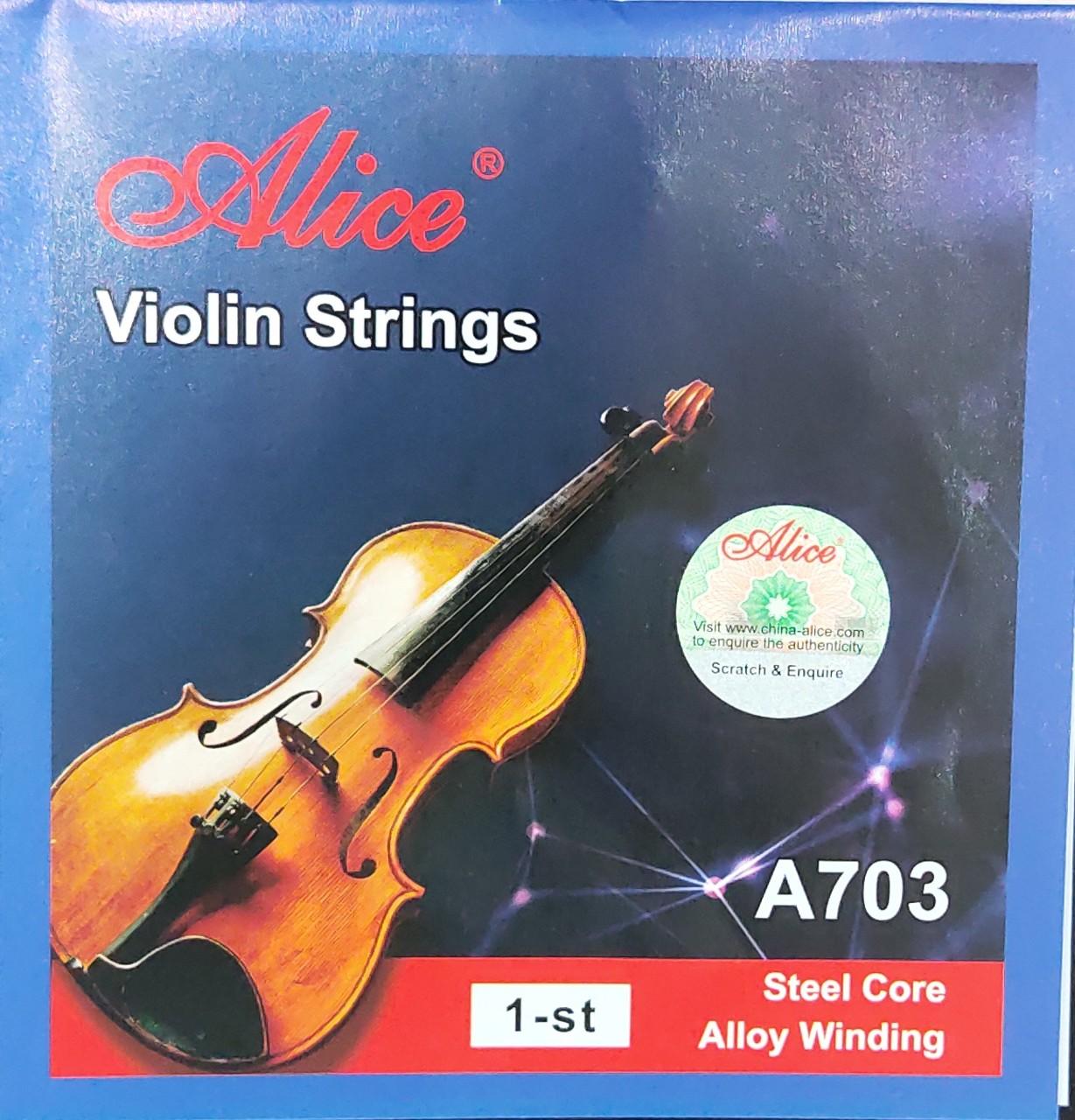 Dây violin lẻ số 1 Alice A703