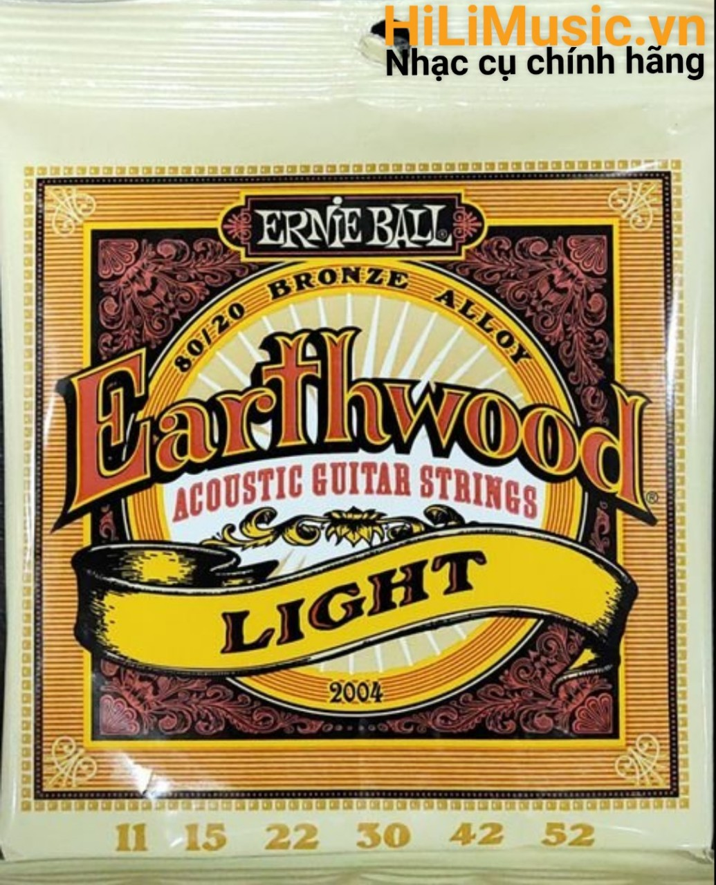 Dây Guitar Acoustic ERNIE BALL Earthwood Light 11-52