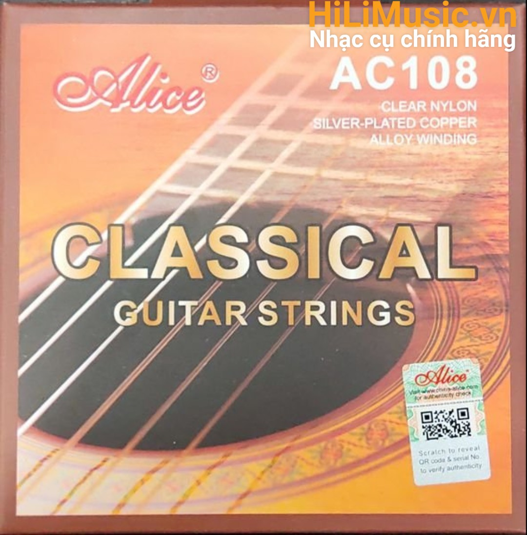 Dây Guitar Classic AC108 ClearNylon - Alloy Winding