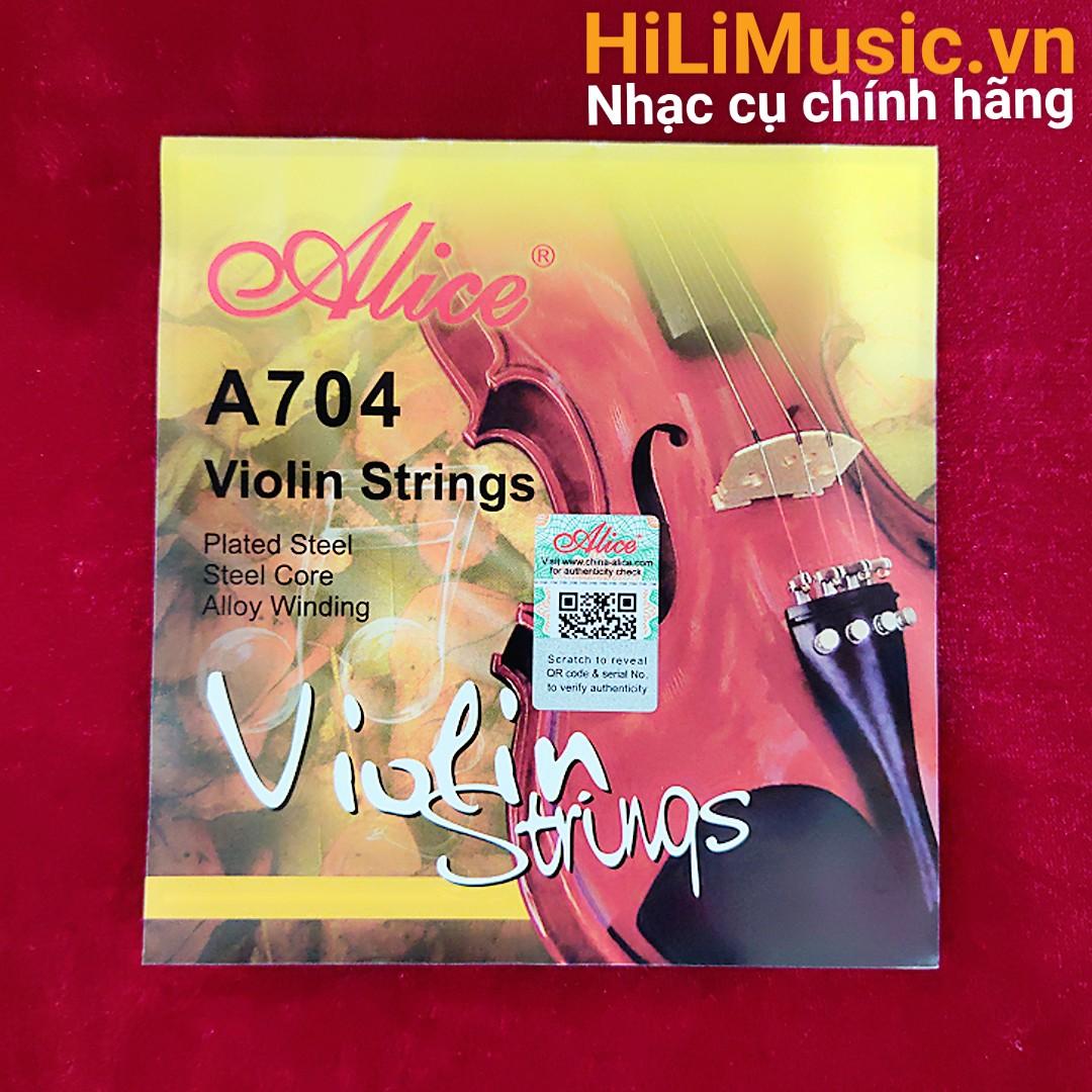 Dây Violin Alice A704 Plated Steel, Steel Core, Alloy Winding