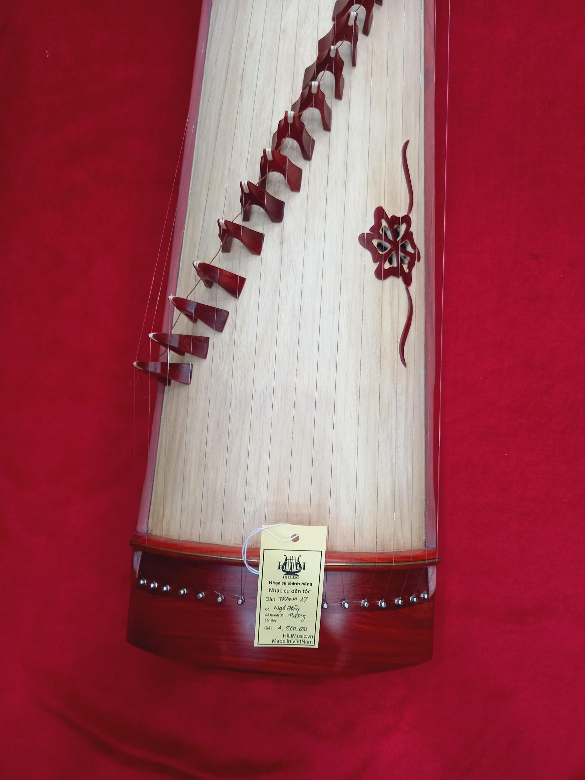 Đàn Tranh gỗ Hương 19 dây cao cấp HiLi TL17HTB