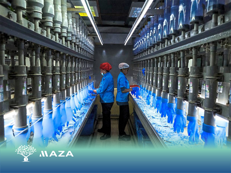 Gloves manufacturing procedure using the latest standardized technology