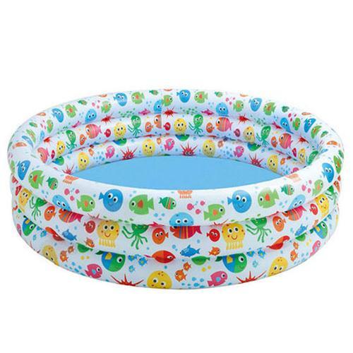Bể bơi phao 3 tầng hình cá 1m68 Intex 56440
