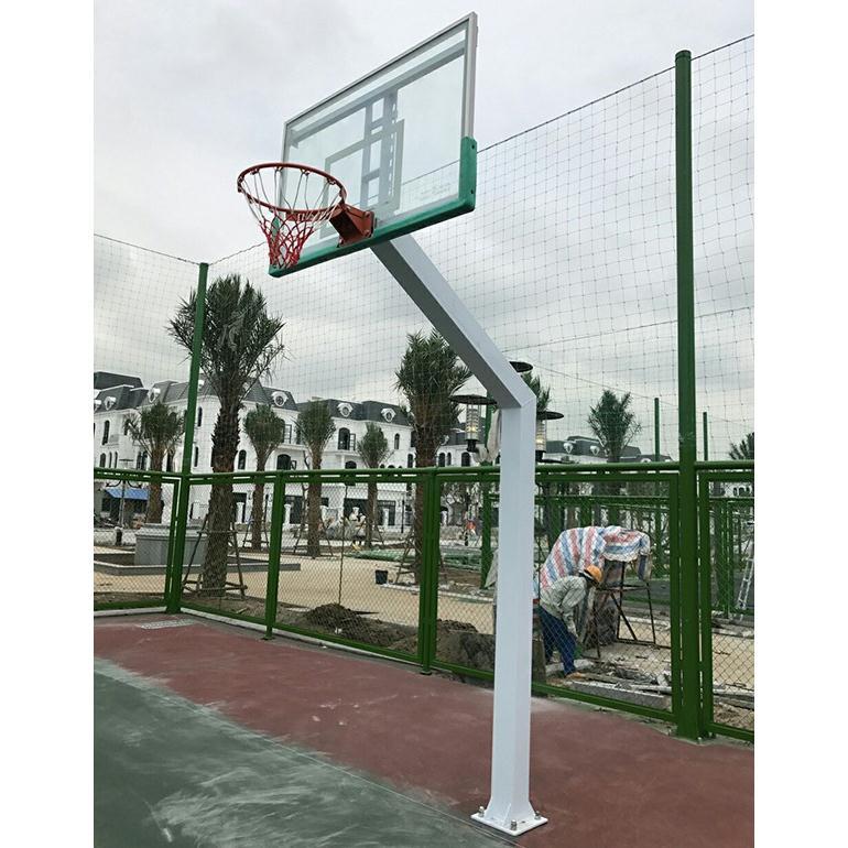 Trụ bóng rổ cố định bảng kính cường lực